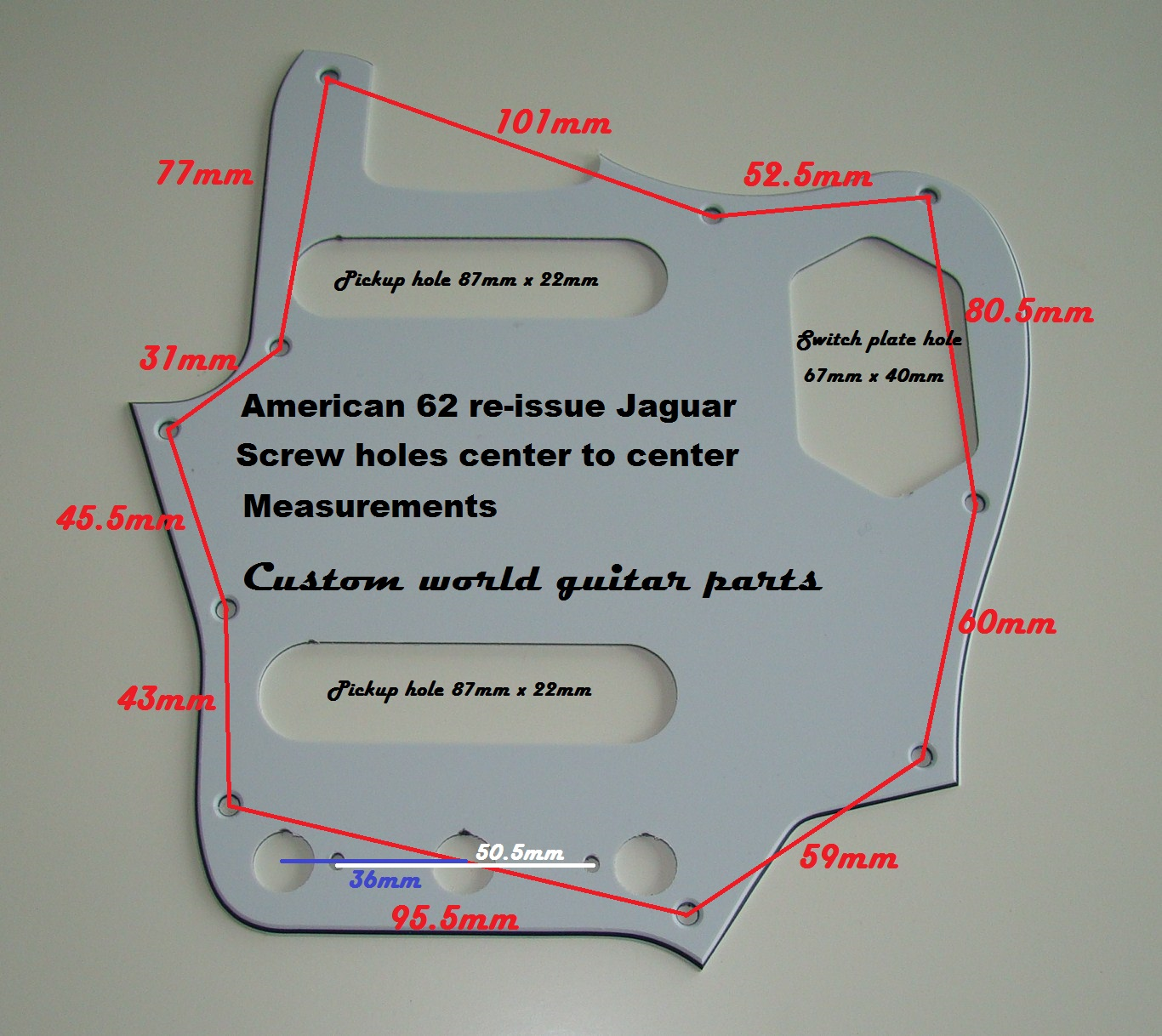 Measurements Jaguar