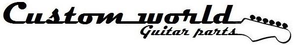 (2) Tele & bass guitar metal dome knobs chrome push fit