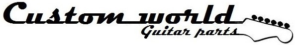 (2) Guitar set strap buttons 17mm black + screws EP-HN-B