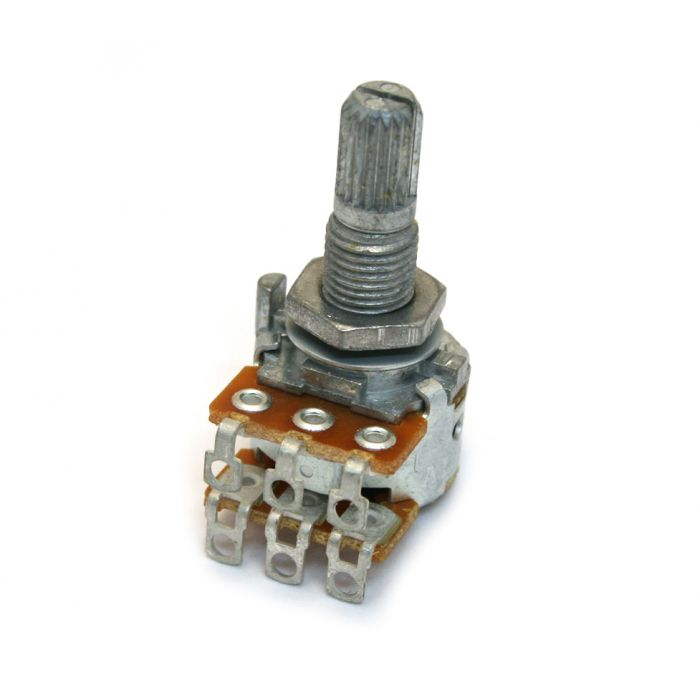CTS 250K Split Shaft Audio Pot Potentiometer Blend Balance NEW Guitar Part