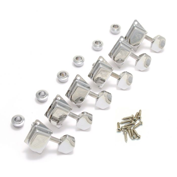 CHROME Genuine Fender 70/'s F-Style Tuners 099-0822-100 NEW